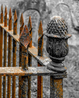 Rusty Metal Fence © Brian Cole - C