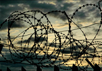 Barbed wire silhouette © Andrew Dow - 3rd.