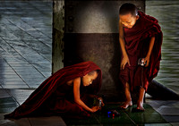 Boy monks at play © Dick Prior - 2nd=