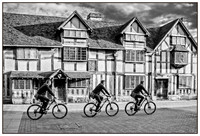 Cyclist Passing Shakespeare's Birthplace © Michael Robertson-Smith – HC